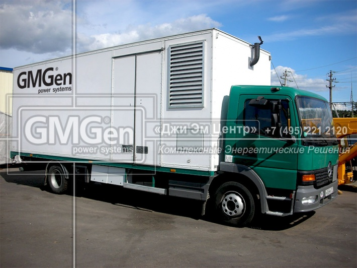 Аренда электростанции GMGen Power Systems в контейнере на шасси